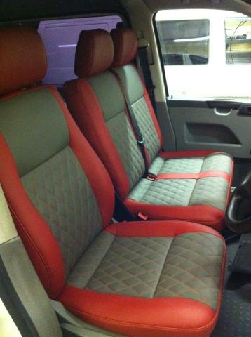 Upholstery (Red and Blue)